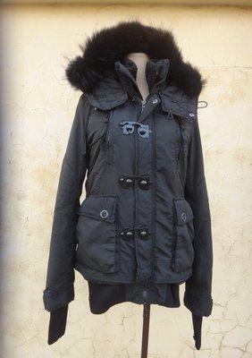 jacob00765100 ~ 正品 日本品牌 SLY 黑色 鋪棉連帽外套 size: 1