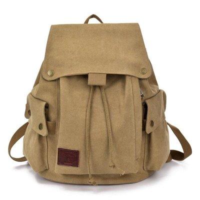 雙肩包女帆布運動休閒男士女士背包韓版潮大中學生書包時尚旅行包