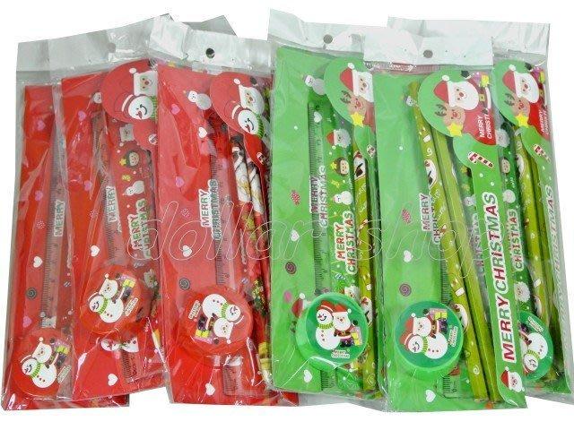 寶貝玩具屋二館☆【獎勵】好寶寶獎勵品---聖誕節限定超值4件式鉛筆長尺削筆器文具組(適合送禮)