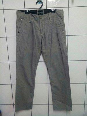 (愛莎&嵐) 流行男裝 ESPRIT 灰色細直條紋中直筒休閒褲/30