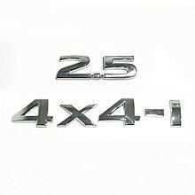 心悅汽車精品新奇駿2.5車標4X4四驅車貼尾標字標 四輪驅動金屬2.5 4X4-i排量標