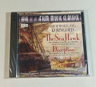"""""""海鷹- 2CD 完整版 The Sea Hawk / Deception""""- E.W. Korngold,全新美版"""