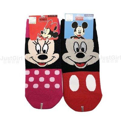 迪士尼 米奇米妮 奇奇蒂蒂 史迪奇 成人 襪子 短襪 船型襪 彈性襪 39元 正版授權台灣製造 JustGirl