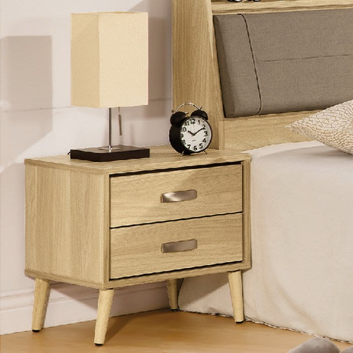 【DH】商品貨號c103-2商品名稱《克瑞艾》47.5CM床頭櫃(圖一) 雙抽.木心板.台灣製.可訂做.主要地區免運費