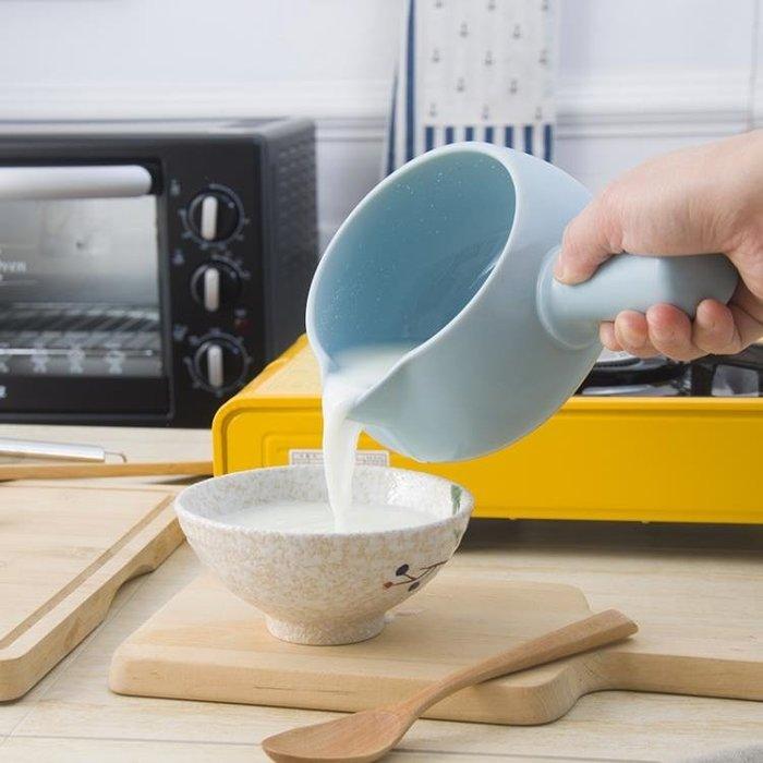牛奶熱煮泡面神器鍋嬰兒輔食搪瓷鍋單柄小奶鍋陶瓷面食米線小砂鍋