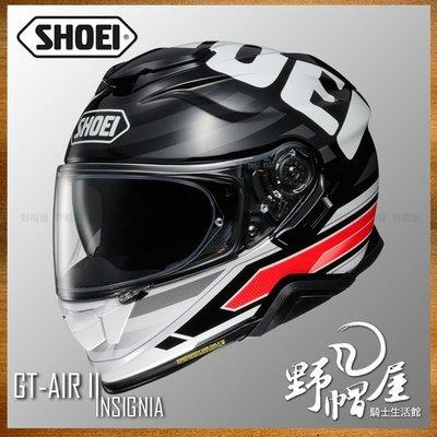 三重《野帽屋》SHOEI GT-Air II 全罩 安全帽 內襯可拆 內墨片 GTAIR2。INSIGNIA TC-1