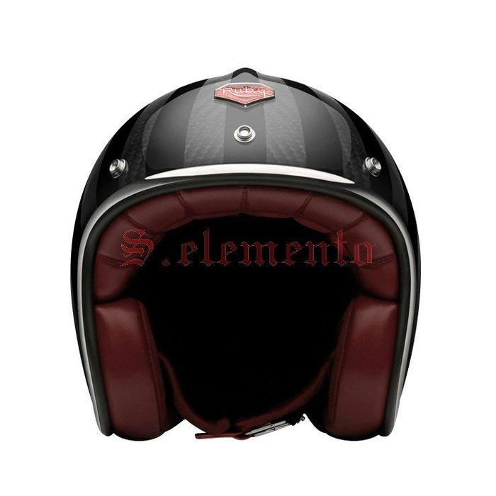 【預購優惠】Ateliers Ruby 安全帽 Pavillon ECE Ginza 碳纖維 3/4 復古帽