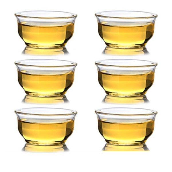 5Cgo【茗道】含稅會員有優惠   520731688587 功夫茶杯品茗杯功夫茶具玻璃杯茶杯加厚耐热玻璃杯一組6個