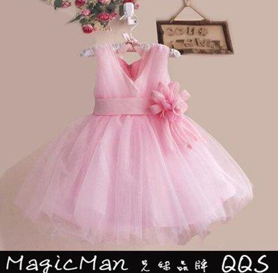 【現貨】 花童 禮服婚紗公主裙 洋裝 (粉色/120)WNN0429