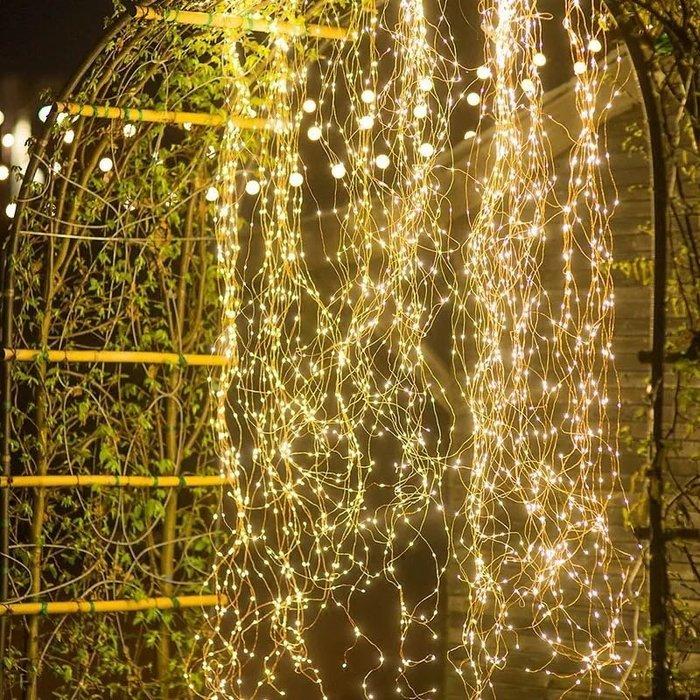 戶外防水銅線滿天星燈飾(插電款)