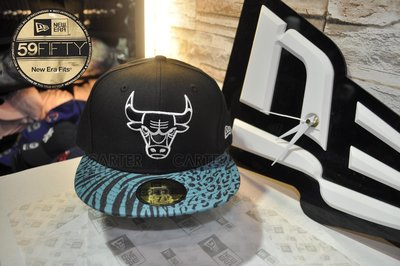 特價 New Era x NBA Chicago Bulls 59fifty 芝加哥公牛隊 斑馬紋全封尺寸帽下帽簷刺繡