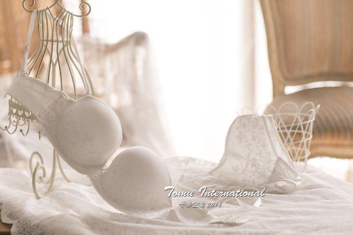 歐美新娘性感半罩式蕾絲U型胸罩 成套內衣 純白無瑕 低調蕾絲 十夢企業 免運