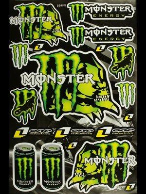 【高橋車部屋】大張彩貼 (24) 貼紙 機車 Monster 鬼爪 BWS 滑胎 越野 rockstar