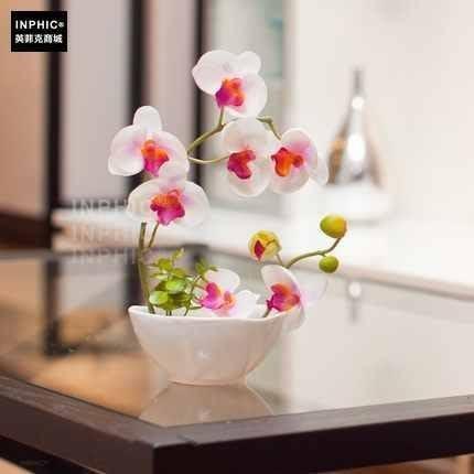 INPHIC-裝飾品擺件 高模擬花卉 模擬絹花盆景 清新陶瓷盆景_S02064C