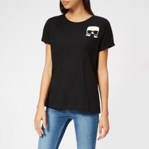 [預購XS-L] Karl Lagerfeld 女成Q版pee-ka-boo卡爾小口袋短袖T恤 白/藏青/黑三色 運費優惠 其他尺寸款式可留言詢問