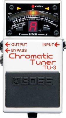 ♪♪學友樂器音響♪♪ BOSS TU-3 調音效果器