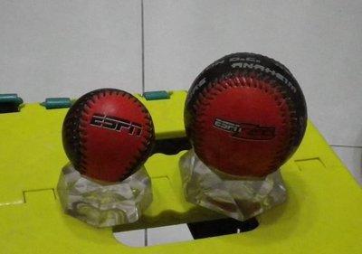 棒球天地--賣場唯一--ESPN絕版紀念球1大1小共2顆