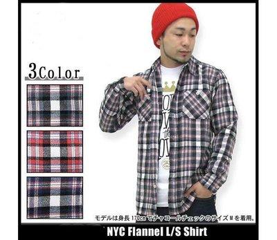 【 超搶手 】全新正品 2012 A/W 冬季 最新款 STUSSY NYC FLANNEL 法蘭絨 格紋 襯衫兩色 S M L XL
