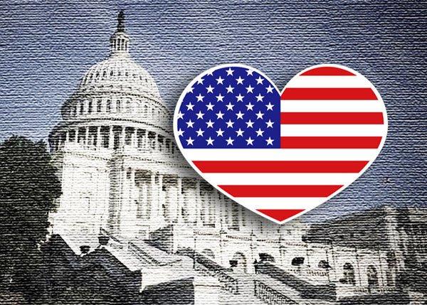 【國旗貼紙專賣店】美國愛心形旅行箱貼紙/抗UV防水/多國款可收集和客製