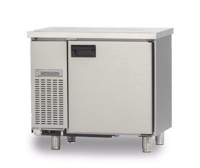 利通餐飲設備》全不鏽鋼304# 3尺 單門工作台冰箱 台灣製造自動除霜冰箱 冷藏冰櫃
