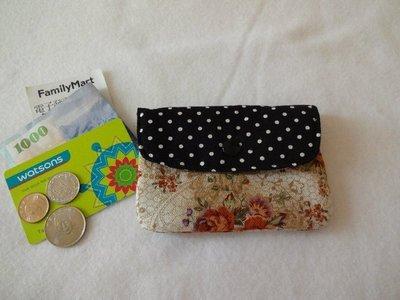 【小茉莉】手作多夾層收納錢包 / 多功能暗袋拉鍊零錢包→歐風玫瑰
