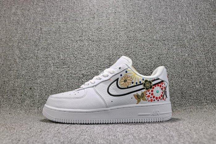 Nike Air Force 1 CNY AF1 白色 百搭 刺繡 皮革 滑板鞋 女鞋 AJ8298-100
