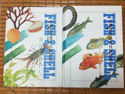 不二書店 台灣常見魚介貝類圖說  上下兩冊  邵廣昭全套 精裝本