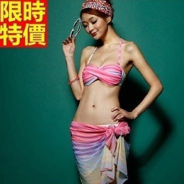 比基尼 泳衣-馬卡龍色系糖果扭紋三件式女泳裝2色67h8[獨家進口][米蘭精品]