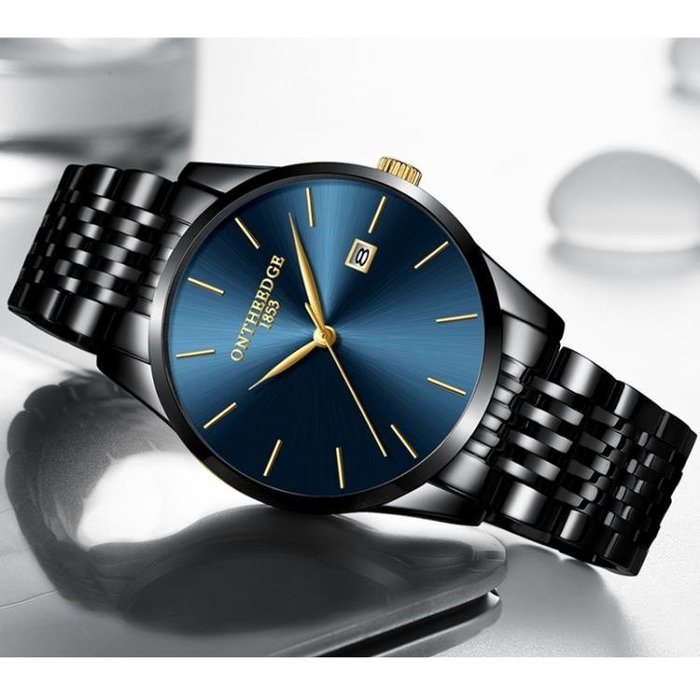 超薄時尚潮流韓版精鋼帶石英錶手錶簡約男士腕錶學生防水男錶