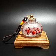 鼻壺內畫鼻壺 純手工帶銅蓋小宮燈壺中國風特色小禮品內畫玻璃瓶鼻子