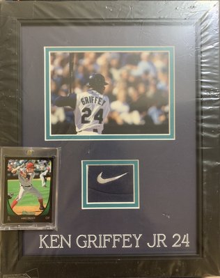 Super Break 2/24 Ken Griffey Jr. Framed Game Worn Logo Patch