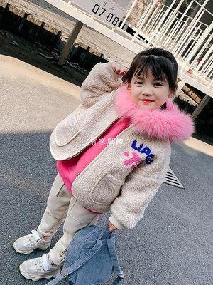 有家服飾虧本童裝女童正韓2019洋氣套裝女寶寶衛衣羊羔絨外套兩件套厚