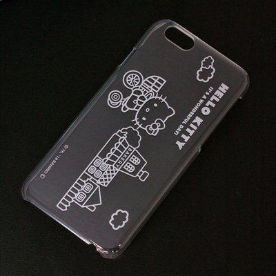 尼德斯Nydus~* 日本三麗鷗 Hello Kitty 透明系列 手機殼 保護殼 iPhone6 4.7吋 腳踏車款