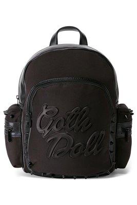 【丹】KS_Goth Doll Neoprene Backpack 黑色 哥特 風格 後背包 肩背包