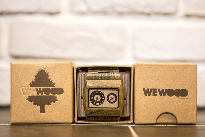 【紐約范特西】現貨 義大利 WEWOOD LIMITED EDITION JUPITER ARMY 方形指針錶 綠色