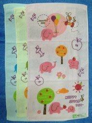 【B合併商品】1427 蘋果小象印花童巾 台灣製 $280/12條