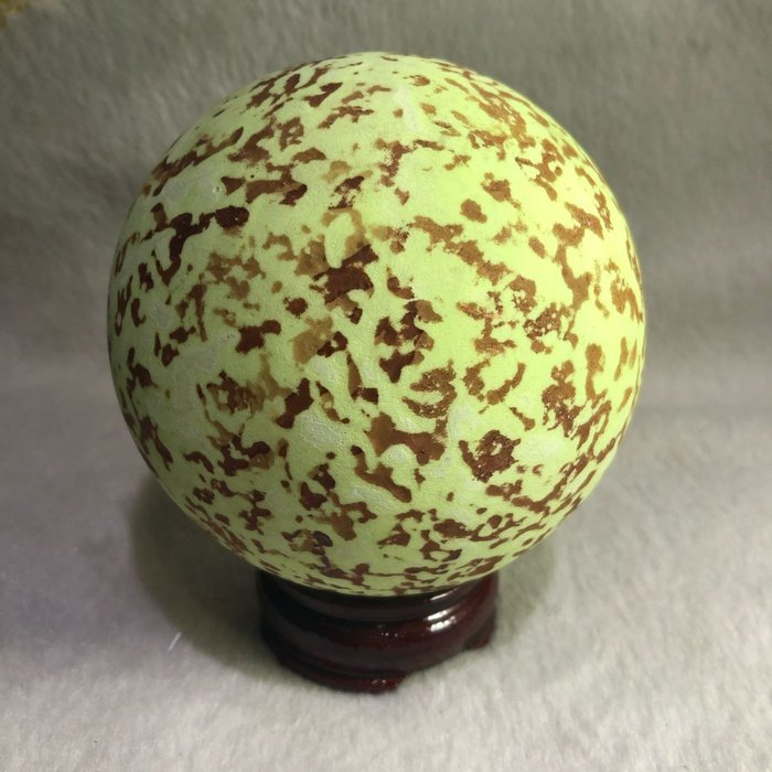 藝品 夜明珠 夜光石(內為四川玉石+鹼土旅酸鹽蓄光材料)古代皇帝送妃子禮品