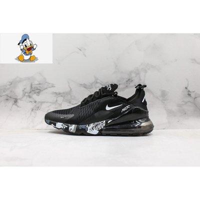【唐老鴨】Nike Air Max 270 Black Volt 黑色 花紋邊 休閒運動 男女款 AH8050-011