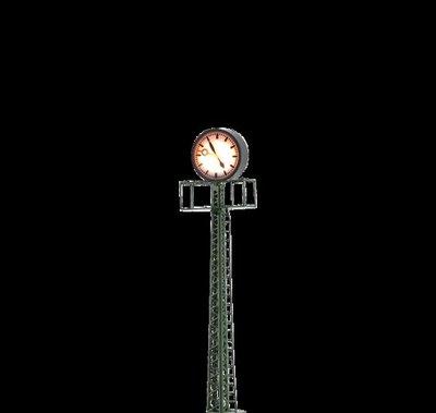傑仲 博蘭 公司貨 BRAWA 燈具組 Clock with Mast on platform 5368 HO