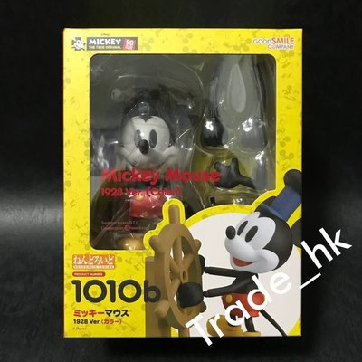 19年5月新貨!最後數盒!全新未開封 日版 No.101b 黏土人 Goodsmile Nendoroid 米奇老鼠 1928 ver. (彩色版) 迪士尼