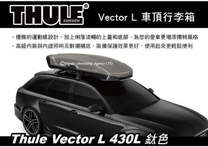 |MyRack|| 【預購95折】Thule Vector L 430L 鈦色 車頂行李箱 雙開車頂箱 613700