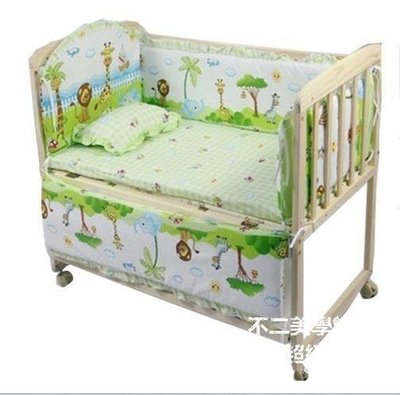 【格倫雅】^廠家實木無油漆bb搖籃床好孩子可變童床書桌 獨立小搖床688[g-l-y96