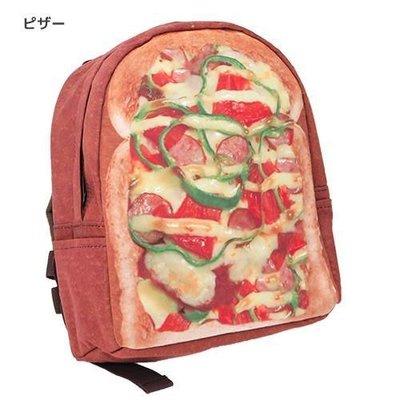 日本 兒童 小孩 烤麵包比薩後背包 吐司後背包 PIZZA後背包 日本超人氣 超擬真 烤麵包系列