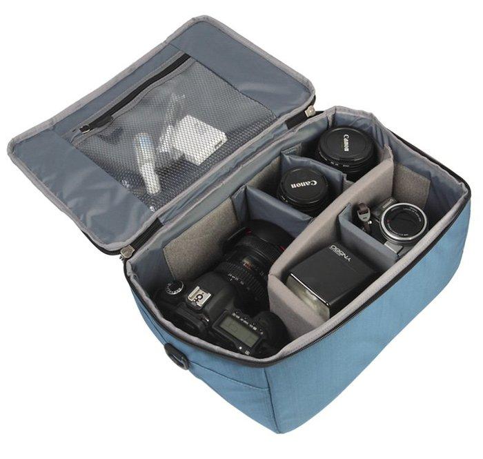 奇奇店-數碼單反相機包單肩斜挎攝影包相機鏡頭收納包單反內膽包 內膽袋