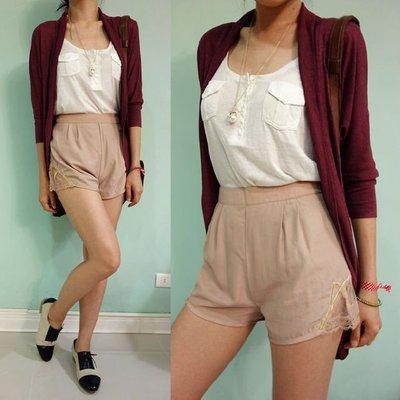 MISHIANA  英國Urban Outfitters旗下staring at stars女生款涼爽絲質質感高腰短褲