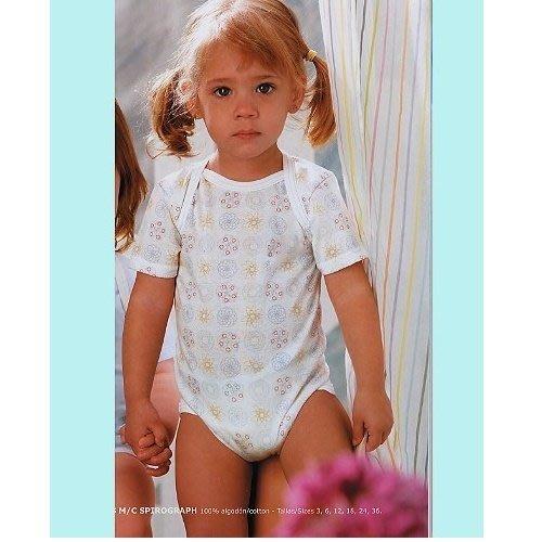 【西班牙 Abanderado】(b956) (嬰兒連身衣(短袖-小圈圈(尺寸 18/24)