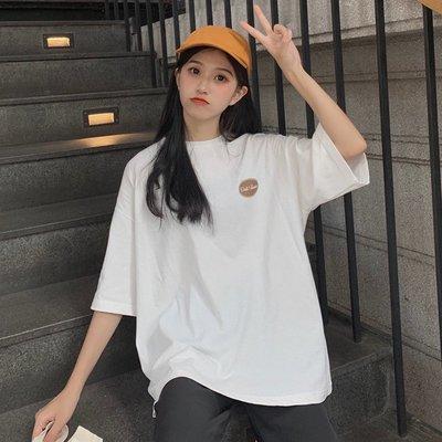 夏季2019新款韓版寬松超火短袖T恤女ins潮洋氣百搭設計感上衣學生《拾月生活小鋪
