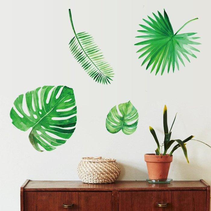 SK7134北歐植物葉子.50*70小清新綠葉壁貼.牆貼.萌萌豬生活館