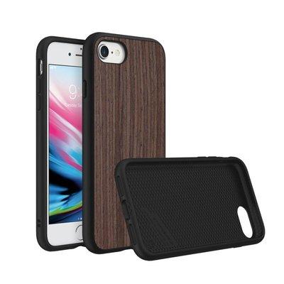 犀牛盾 iPhone 7 / iPhone 8SolidSuit 防摔背蓋手機殼 - 黑胡桃木紋-棕色