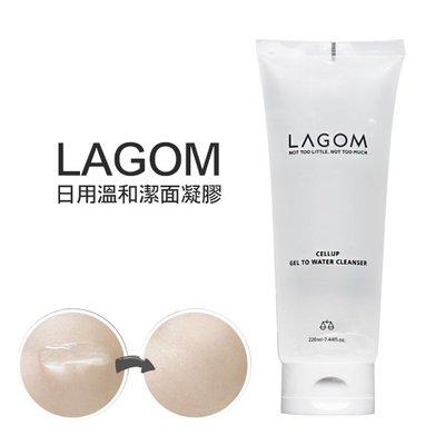 韓國 LAGOM 日用溫和潔面凝膠 220ml 洗面乳 潔面水凝露【V287025】PQ 美妝